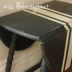 Striped paint for the front portch or basement stairs -Artissimo with Ironstone grain sack stripes / by Miss Fibbertigibbet / Miss Mustard Seed's Milk Paint Refurbished Furniture, Repurposed Furniture, Furniture Makeover, Antique Furniture, Primitive Furniture, Chalk Paint Furniture, Furniture Projects, Diy Furniture, Furniture Design