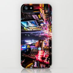 New York City Night iPhone & iPod Case by Nicklas Gustafsson - $35.00 #newyork #usa #manhattan #street #city #cityscape #lights #colors #colorful #neon #signs #iphone #iphone6 #iphonecase #iphone6case #case