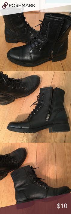 Black combat boots Short black combat boots! Good condition! Shoes Combat & Moto Boots