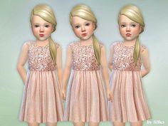 The Sims 4 Safir Toddler Dress Toddler Cc Sims 4, Sims 4 Toddler Clothes, Sims 4 Cc Kids Clothing, Sims 4 Mods Clothes, Toddler Girl Outfits, Kids Outfits, Toddler Stuff, Toddler Girls, Babies Clothes