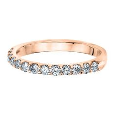 1/2 ct. tw. Diamond Band in 14K Gold available at #HelzbergDiamonds #AisleStyle #Entry