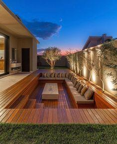 """Arquitetura e urbanismo (@meio.arquiteto) adicionou uma foto em sua respectiva conta do Instagram: """"Espaço de lareira ou piscina? Qual vc prefere 🧡"""" Backyard Patio Designs, Yard Design, Backyard Projects, Yard Landscaping, Landscaping Ideas, Villa Design, House Design, Loft Design, Villa Luxury"""