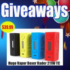 Hugo Vapor Boxer Rader 211W TC Temperature Control Box Mod