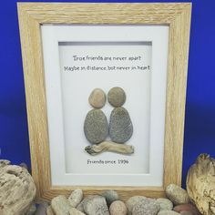 Christmas gifts for friend, best friend birthday gift, friendship gift, bff gifts, pebble art picture, personalized friend gifts, friend art by CoastalPebblesShop on Etsy