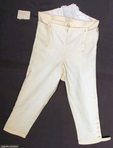 Man's Wool Knee Breeches, America, C. 1818, Augusta Auctions, November 13, 2013 - NYC, Lot 166