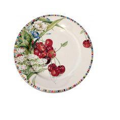 """Тарелка закусочная 22см """"Вишня"""" - Gien - Правильные вещи для кухни"""