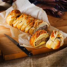 Sausage plait recipe, from 'Debbie & Andrew's 30 Best-Loved Recipes'