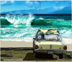 Sandy Beach, Oahu ~ By: Eizin Suzuki