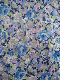 2m vintage 1940s dress fabric unused yardage by OldEnglishRoses