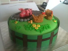Pig and Chicken Cake
