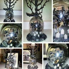 OOAK DiY Halloween Punk Home Decor Glass Piece in Home & Garden | eBay