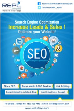 RIPL Noida is a internet marketing and SEO, SMO Company based in the Noida. Digiatal Marketing Increase leads & Sales! Optimize Websites! (SEM/PPC, SMO/SEO, Content Marketing). http://www.replinfosys.com/Microsoft-Partnership.aspx