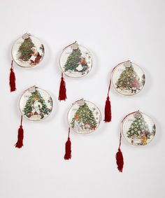 Take a look at this Christmas Tradition Ornament Set by Carlson Fine Art on #zulily today!