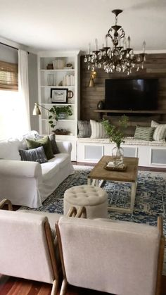 Cute Living Room, Living Room On A Budget, Cozy Living Rooms, Formal Living Rooms, Living Room Modern, Home And Living, Living Room Wall Ideas, Living Room White Walls, Decorating Ideas For The Home Living Room