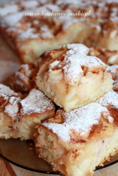 CIASTO MAŚLANKOWE Z JABŁKAMI I CYNAMONEM Polish Desserts, Polish Recipes, Cookie Desserts, No Bake Desserts, Just Desserts, Delicious Desserts, Yummy Food, Apple Recipes, Baking Recipes