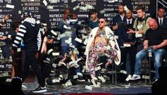 Mayweather vs McGregor Raining Dollar Bills #MayweatherMcGregor #MayMac