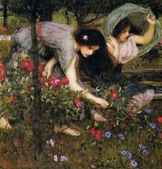 """Flora and the Zephyrs"" (1897) by John William Waterhouse"