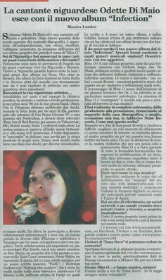 Interviewed by milanese press ZONA NOVE.