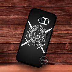 All Men Must Die Gradient Game of Thrones - Samsung Galaxy S7 S6 S5 Note 7 Cases & Covers