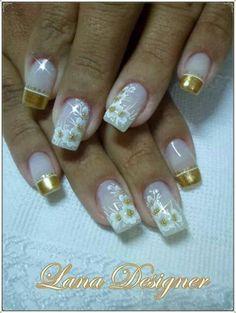 Mais de 90 Ideias para a sua Unha Decorada do Ano Novo! Fabulous Nails, Perfect Nails, Gorgeous Nails, Pretty Nails, Nail Art Designs, Creative Nail Designs, Creative Nails, Yellow Nails, Nail Art Galleries