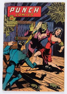 Golden Age (1938-1955):Superhero, Punch Comics #15 (Chesler, 1945) Condition: VG+....