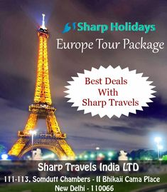 Sharp Holidays offer great deals and discounts on Europe Tour Packages and Europe Honeymoon Tours. Book Europe packages online with Sharpholidays.in and explore all tourist places. Europe Tourism, Most Romantic Places, Honeymoon Packages, Tourist Places, Group Tours, India Travel, Explore, City, Holiday