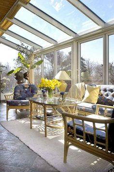 Veranda Wintergarten Mit Vielen Pflanzen | Wintergärten ... Pflanzen Wintergarten Design Ideen
