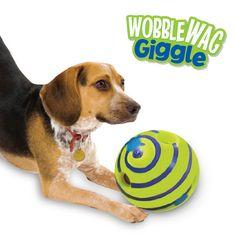 "Wobble Wag Giggle Ball Dog Toy 5.5"""