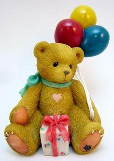 LOT of 12 Cherished Teddies Nina Birthday Bear w/ Balloons & Present 215864 MIB