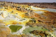 Dallol, Ethiopia Near the Danakil Depression is a volcano that formed roughly 1926. Description from pinterest.com. I searched for this on bing.com/images