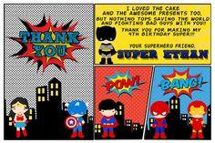 Superhero Birthday Invitation Superhero Party by TheColorfulScoot
