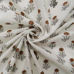 India Hand Block Print Fabric By the Yard, Pure Voile Cotton Natural Fabric Soft Dress Making Vegetables Colour Indian Sewing Fabric CFC35 Shibori Fabric, Floral Print Fabric, Indian Fabric, Fabric Strips, Wood Print, Soft Fabrics, Fabric Design, Colorful Backgrounds, Printing On Fabric