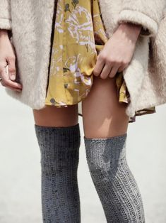 Free People Speckled Slouch Tall Sock at Free People Clothing Boutique