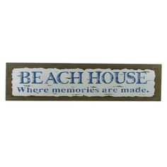 """Handcrafted Nautical Decor 20"""" Wooden Rustic Beach House Where Memories are Made Sign Wall Décor"""