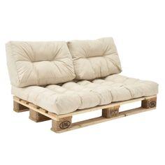 en-casa-034-Euro-Palets-Sofa-034-3x-Asiento-Almohadas-para-la-espalda-Beige-Cojin