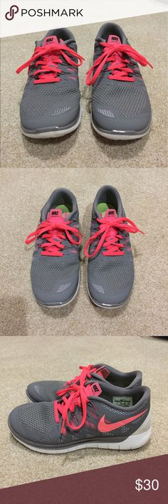 Nike Sneakers Women's pink & gray Nike Sneakers, size 8. Good gently used condition. 30% off 3+ items in my closet. BUNDLE & SAVE!! Nike Shoes Sneakers