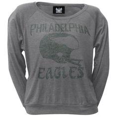 Philadelphia Eagles - Vintage Logo Juniors Long Sleeve T-Shirt