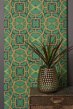 How to decorate a bohemian home with #wallpaper - the all new designs to use right now for an eclectic look. Woodchip and Magnolia are excited to announce the latest member of the W and M tribe ANNA HAYMAN. They have worked with Anna to create seven papers including BIBAN, a popular design of the Sussex based artist. #bohemian #artdeco #interiors #interiorsinspo