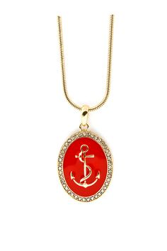 Nautical Cameo Pendant in Red Coral  For all of you DST anchor's out there!