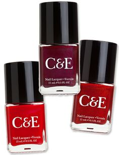 Crabtree & Evelyn Release Nail Polishes:  Apple, Pomegranate, and Tomato