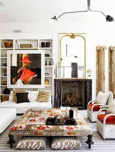 ottoman // living room // windsor smith
