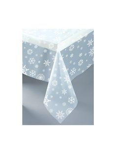 $2.99 free ship Snowflakes Plastic Table Cover - Party Supplies & other Themed Tableware from Birthday in a Box