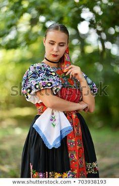 Slovakian Folklore Traditional Costume: stock fotografie (k okamžité úpravě) 703938166 Folk Costume, Costumes, Popular, Marceline, Photo Editing, Royalty Free Stock Photos, Traditional, Retro, Image