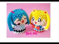 How to make Hatsune Miku 3D Origami [Hướng dẫn xếp Hatsure MiKu 3D Origami] - YouTube Cool Minecraft Houses, Minecraft Pixel Art, Minecraft Skins, Minecraft Buildings, Origami 3d, Modular Origami, Origami Youtube, Hatsune Miku, Hama Beads Minecraft