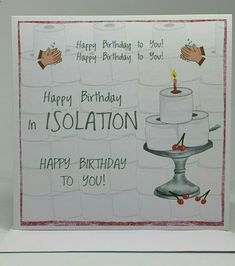 Happy Birthday in Isolation Card Unique Birthday Wishes, Happy Birthday Quotes For Friends, Birthday Poems, 21st Birthday Cards, Birthday Quotes For Daughter, Birthday Wishes Quotes, Birthday Gifts For Sister, Happy Birthday Images, Happy Birthday Greetings
