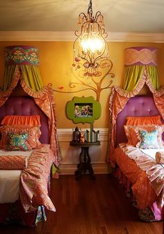 girl's princess room #arquitetura #architecture #design #decoração #house #home #decor #casa #building