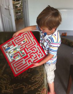 Make a Lego maze! You can probably Google maze patterns online or your child can create their own! Requires clever thinking and some trial and error... great problem-solving activity and a different use of Legos besides the typical building activities! AWESOME! Love this!