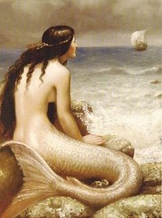 This has always been one of my favorite Mermaid paintings. You could imagine a thousand different stories about it
