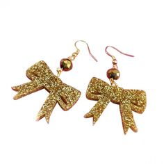 Image result for bow dangly earrings