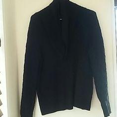 BLACK SWEATER cowl neck BLACK SWEATER COWL NECK Covington Sweaters Cowl & Turtlenecks